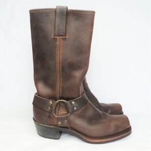 Frye 12R Harness Leather Boots 8